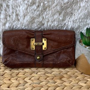 Fossil WOMEN'S REAL LEATHER FOSSIL WALLET CLUTCH